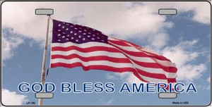 God Bless America Wholesale Metal Novelty License Plate LP-140