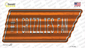 Number 1 Grizzlies Fan Wholesale Novelty Corrugated Tennessee Shape Sticker Decal