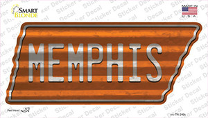 Memphis Wholesale Novelty Corrugated Tennessee Shape Sticker Decal