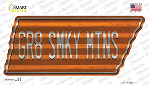 Gr8 Smky Mtns Wholesale Novelty Corrugated Tennessee Shape Sticker Decal