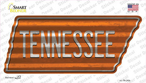 Tennessee Wholesale Novelty Corrugated Tennessee Shape Sticker Decal