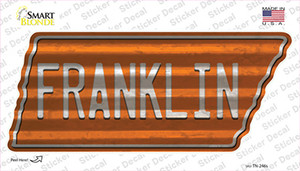 Franklin Wholesale Novelty Corrugated Tennessee Shape Sticker Decal