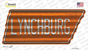 Lynchburg Wholesale Novelty Corrugated Tennessee Shape Sticker Decal