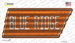 Blue Ridge Wholesale Novelty Corrugated Tennessee Shape Sticker Decal