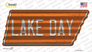 Lake Day Wholesale Novelty Corrugated Tennessee Shape Sticker Decal