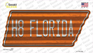 H8 Florida Wholesale Novelty Corrugated Tennessee Shape Sticker Decal