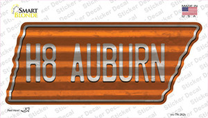 H8 Auburn Wholesale Novelty Corrugated Tennessee Shape Sticker Decal