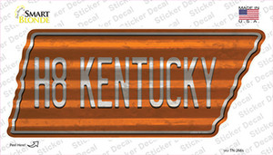 H8 Kentucky Wholesale Novelty Corrugated Tennessee Shape Sticker Decal