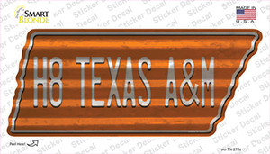 H8 Texas A&M Wholesale Novelty Corrugated Tennessee Shape Sticker Decal