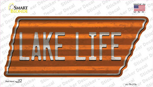 Lake Life Wholesale Novelty Corrugated Tennessee Shape Sticker Decal