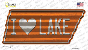 I Love Lake Wholesale Novelty Corrugated Tennessee Shape Sticker Decal