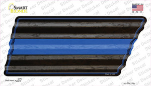 Thin Blue Line Wholesale Novelty Corrugated Tennessee Shape Sticker Decal
