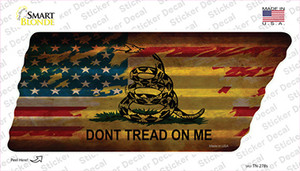 American Dont Tread Wholesale Novelty Corrugated Tennessee Shape Sticker Decal