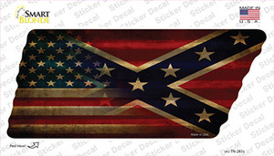 American Confederate Flag Wholesale Novelty Corrugated Tennessee Shape Sticker Decal