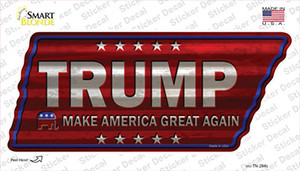 Trump Wholesale Novelty Corrugated Tennessee Shape Sticker Decal
