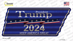 Trump 2024 Wholesale Novelty Corrugated Tennessee Shape Sticker Decal