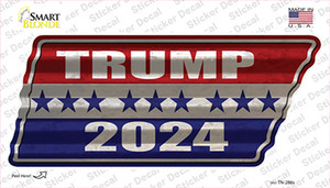 Trump 2024 Stripes Wholesale Novelty Corrugated Tennessee Shape Sticker Decal