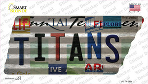 Titans Strip Art Wholesale Novelty Corrugated Tennessee Shape Sticker Decal