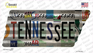 Tennessee Strip Art Wholesale Novelty Corrugated Tennessee Shape Sticker Decal