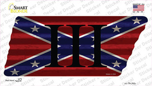 Confederate Three Percenter Wholesale Novelty Corrugated Tennessee Shape Sticker Decal