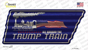 Trump Train Wholesale Novelty Corrugated Tennessee Shape Sticker Decal
