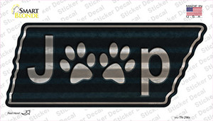 J**p Paws Wholesale Novelty Corrugated Tennessee Shape Sticker Decal