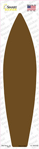 Brown Solid Wholesale Novelty Surfboard Sticker Decal