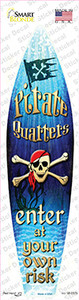 Pirate Quarters Wholesale Novelty Surfboard Sticker Decal