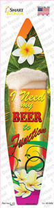 I Need My Beer Wholesale Novelty Surfboard Sticker Decal