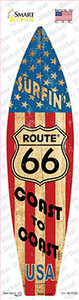 Route 66 Surfing USA Wholesale Novelty Surfboard Sticker Decal