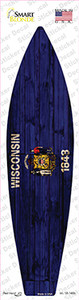 Wisconsin State Flag Wholesale Novelty Surfboard Sticker Decal
