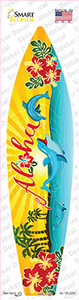 Aloha With Dolphins Wholesale Novelty Surfboard Sticker Decal