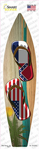 Mississippi Flag Flip Flop Wholesale Novelty Surfboard Sticker Decal