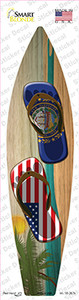 New Hampshire Flag Flip Flop Wholesale Novelty Surfboard Sticker Decal
