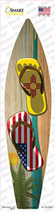 New Mexico Flag Flip Flop Wholesale Novelty Surfboard Sticker Decal