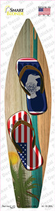 Wyoming Flag Flip Flop Wholesale Novelty Surfboard Sticker Decal