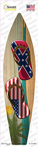 Confederate Flag Flip Flop Wholesale Novelty Surfboard Sticker Decal