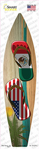 Mexico Flag Flip Flop Wholesale Novelty Surfboard Sticker Decal
