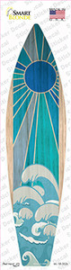 Blue Sun And Waves Wholesale Novelty Surfboard Sticker Decal