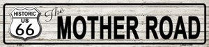 Route 66 Mother Road Grey Wholesale Metal Novelty Street Sign