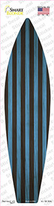 Blue And Black Striped Wholesale Novelty Surfboard Sticker Decal