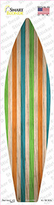 Blue Green And Orange Striped Wholesale Novelty Surfboard Sticker Decal