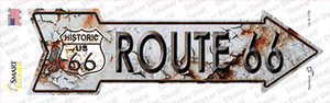Rusty Route 66 Wholesale Novelty Arrow Sticker Decal