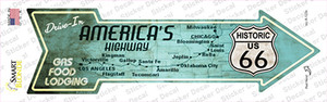 Americas Highway Drive In Wholesale Novelty Arrow Sticker Decal