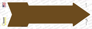 Brown Wholesale Novelty Arrow Sticker Decal