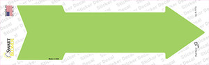 Lime Green Wholesale Novelty Arrow Sticker Decal