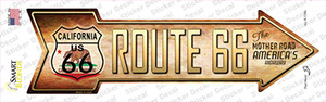Route 66 California Flag Wholesale Novelty Arrow Sticker Decal
