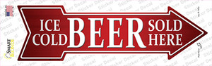 Ice Cold Beer Sold Here Wholesale Novelty Arrow Sticker Decal