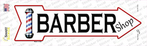 Barber Shop Wholesale Novelty Arrow Sticker Decal