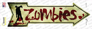 Zombies Wholesale Novelty Arrow Sticker Decal